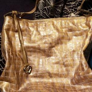 Brighton patent leather metallic light gold